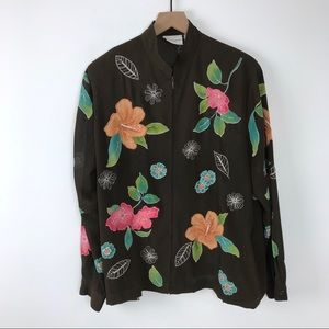 Alfred Dunner Wearable art blouse 12 floral